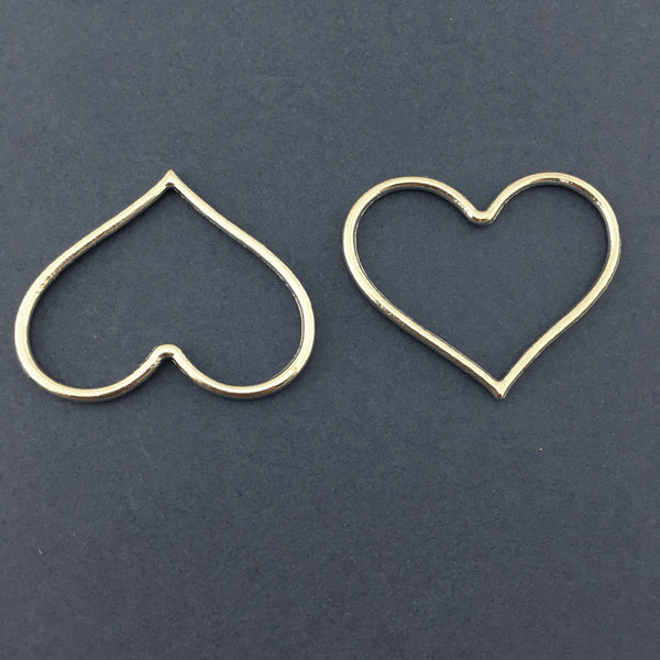 Silver Heart Alloy Jewellery Connectors | Fashion Jewellery Outlet