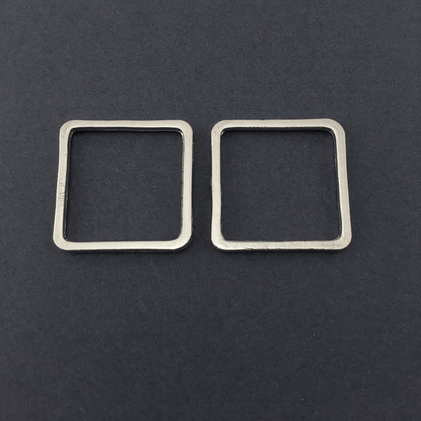 Silver Square Alloy Jewellery Connectors | Fashion Jewellery Outlet