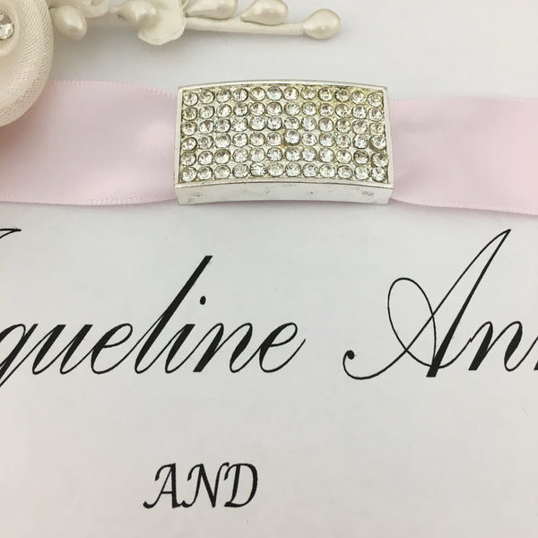 Silver Rectangle Invitation Buckle Embellishments | Fashion Jewellery Outlet