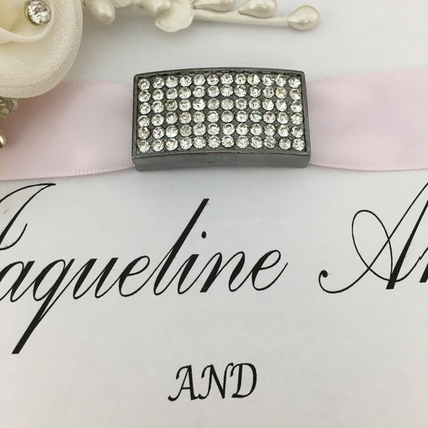 Gunmetal Rectangle Invitation Buckle Embellishments | Fashion Jewellery Outlet