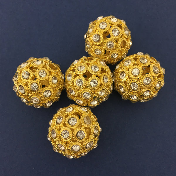 Alloy Gold Round Bead | Fashion Jewellery Outlet