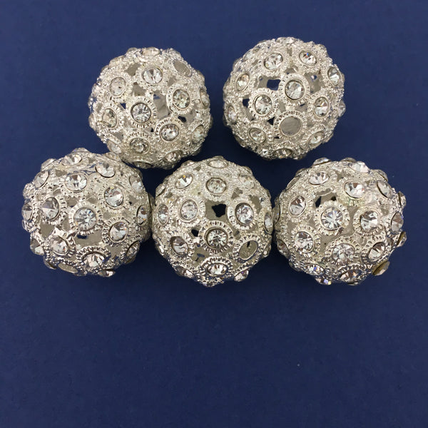 Alloy Silver Round Bead | Fashion Jewellery Outlet