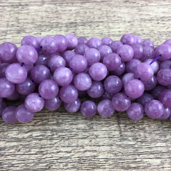 8mm Lavender Jade Bead | Fashion Jewellery Outlet