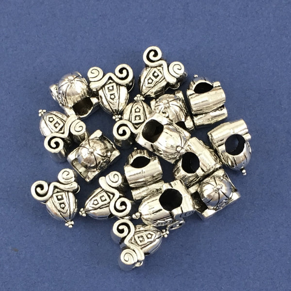 Alloy Cinderella Buggy Bead | Fashion Jewellery Outlet