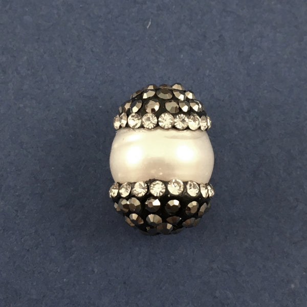 Mother of Pearl Pave Bead | Fashion Jewellery Outlet