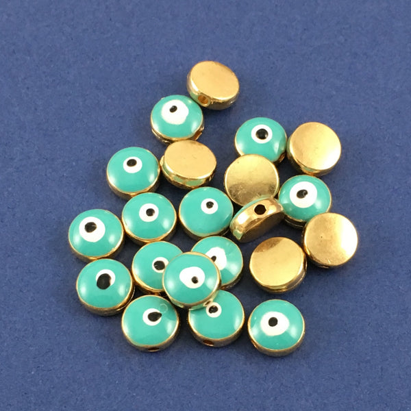 Alloy Green Evil Eye Bead | Fashion Jewellery Outlet