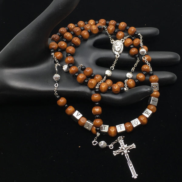 Wood Beads Custom Handmade Rosary | Fashion Jewellery Outlet