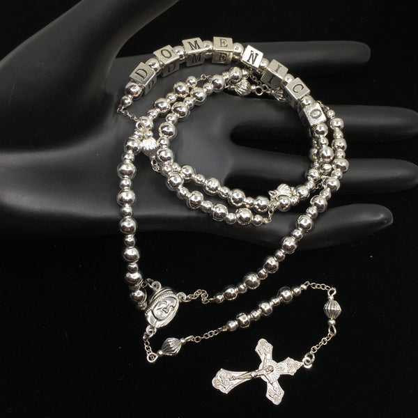 Alloy Silver Bead Custom Handmade Rosary | Fashion Jewellery Outlet