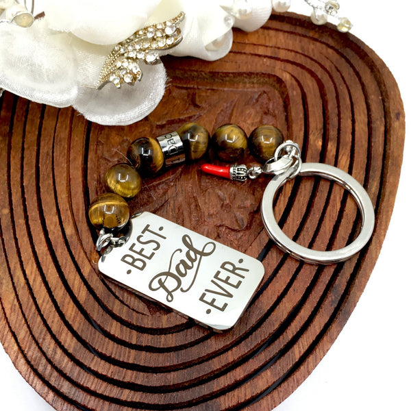 Best Dad Ever Custom Keychain | Fashion Jewellery Outlet