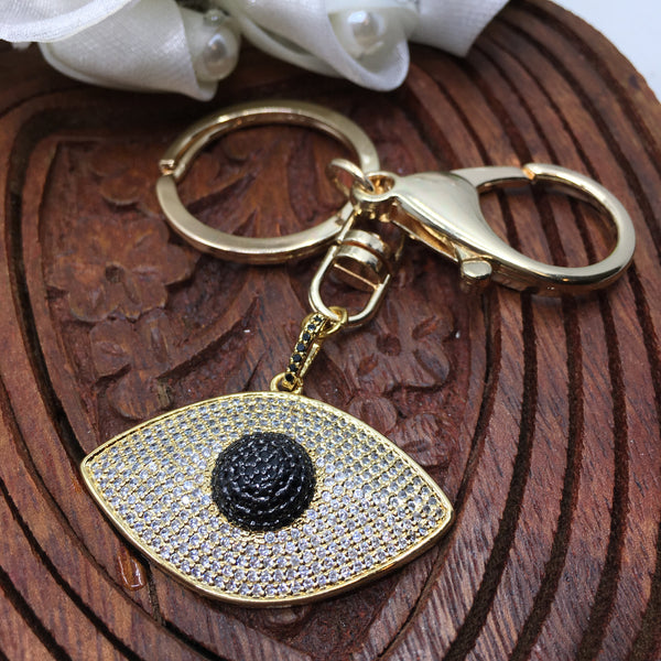 Gold Evil Eye Keychain | Fashion Jewellery Outlet