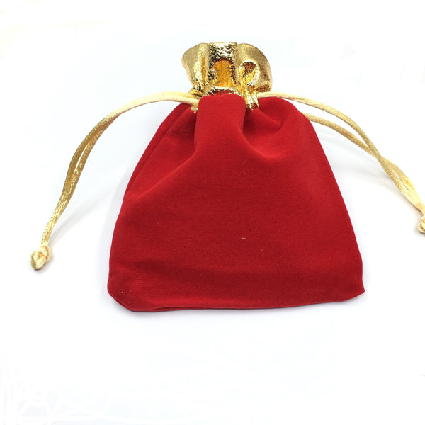 Small Red Velvet Bag | Fashion Jewellery Outlet