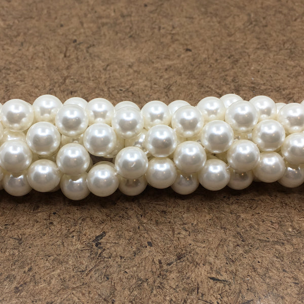 8mm White Shell Pearls | Fashion Jewellery Outlet