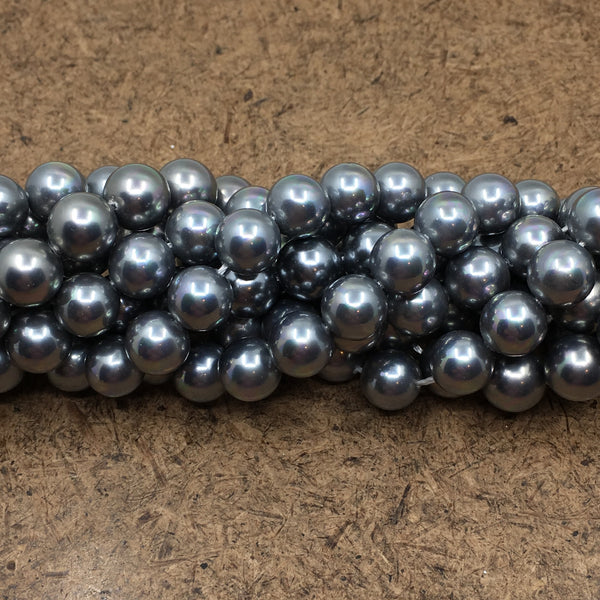 10mm Grey Shell Pearls | Fashion Jewellery Outlet