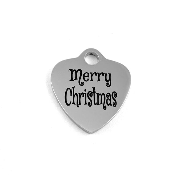 Merry Christmas Engraved Charm | Fashion Jewellery Outlet
