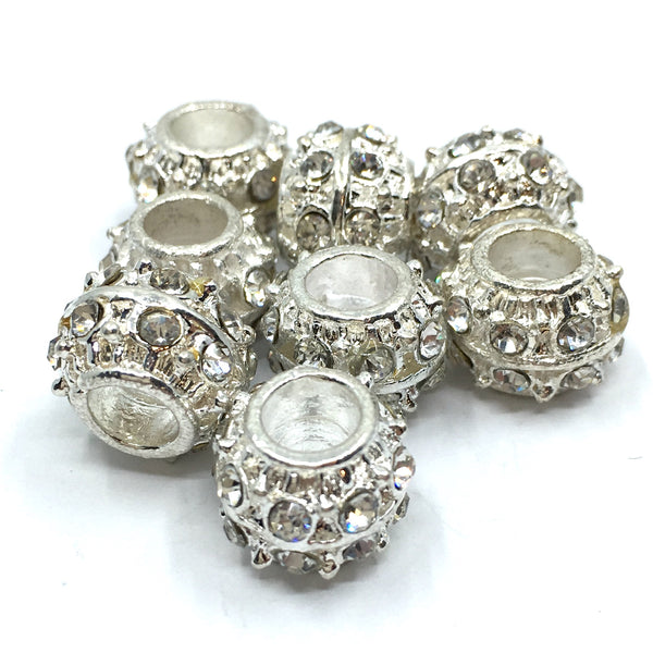 Silver Round Rondelle Beads | Fashion Jewellery Outlet