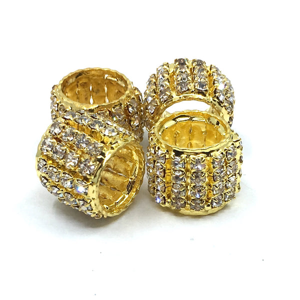 Gold Rhinestone Spacer Beads | Fashion Jewellery Outlet