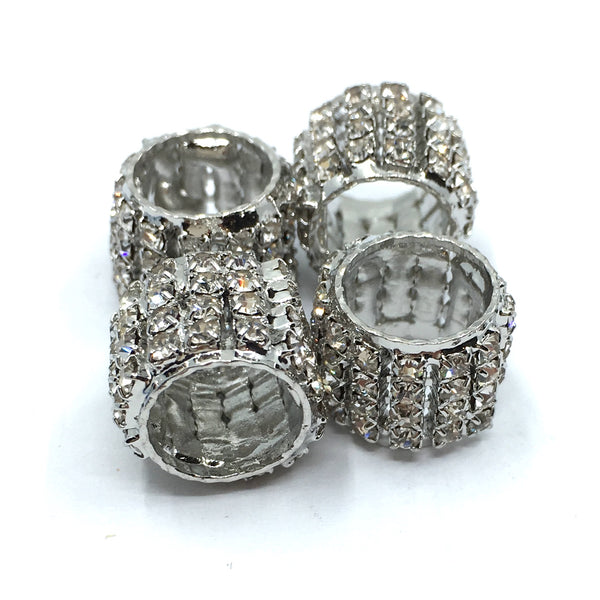 Rhodium Rhinestone Spacer Beads | Fashion Jewellery Outlet