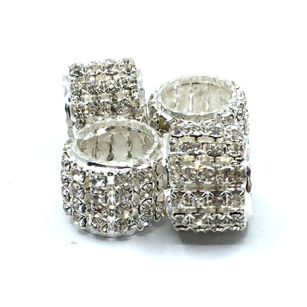 Silver Rhinestone Spacer Beads | Fashion Jewellery Outlet