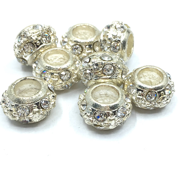 Silver Rondelle Round Bead | Fashion Jewellery Outlet
