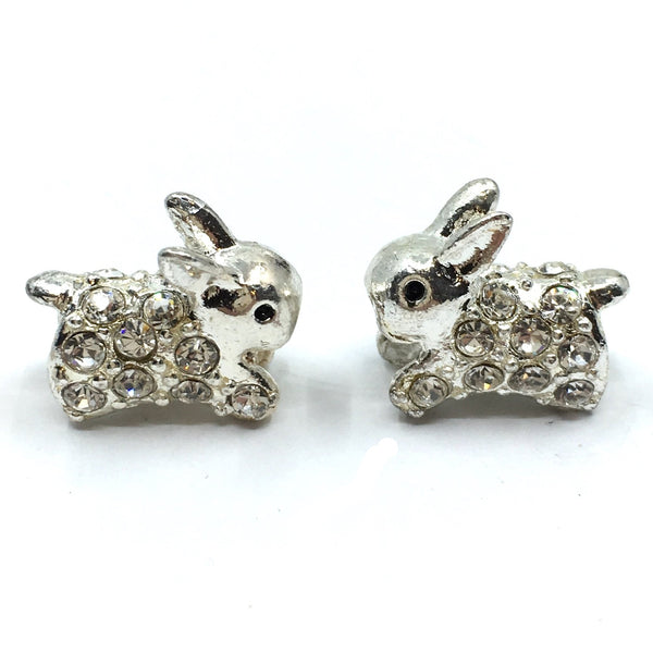 Silver Bunny Beads | Fashion Jewellery Outlet