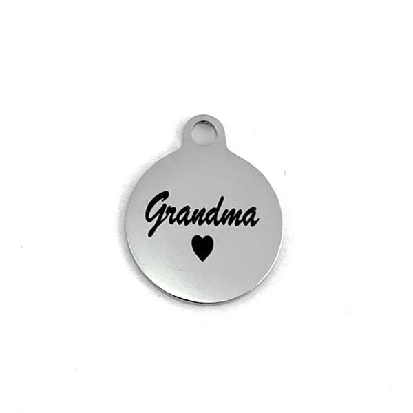 Grandma Laser Engraved Steel Charm | Fashion Jewellery Outlet