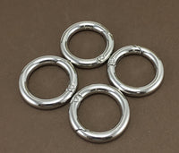4 Silver Plated Key Chain Rings, 25mm | Fashion Jewellery Outlet