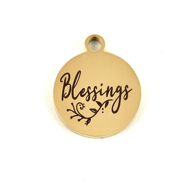 Blessings Laser Engraved Custom Charms | Fashion Jewellery Outlet