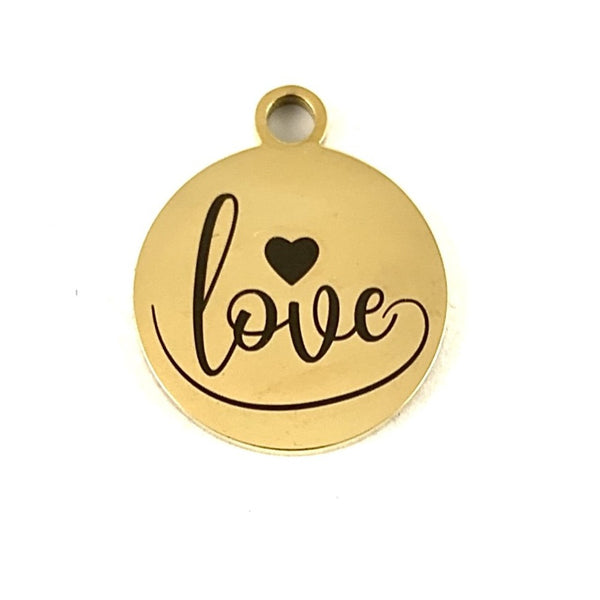 Love Laser Engraved Custom Charms | Fashion Jewellery Outlet