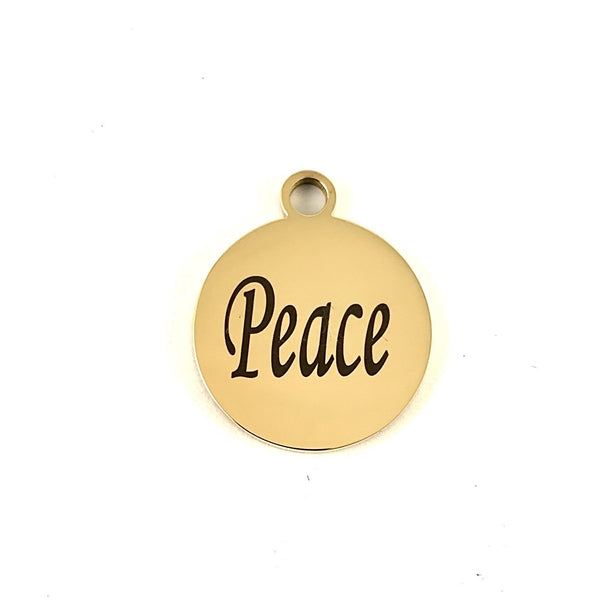 Peace Round Custom Charm | Fashion Jewellery Outlet