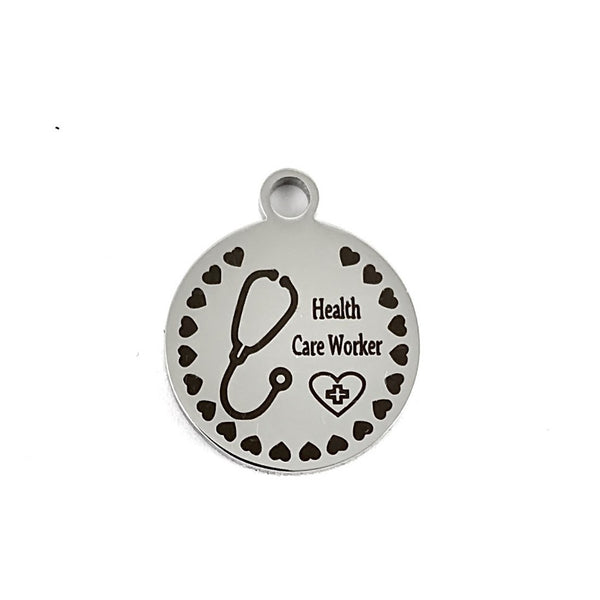 Gift for Healthcare Workers Engraved Charm | Fashion Jewellery Outlet