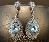 Crystal Victorian Teardrop Earrings, Rose Gold | Fashion Jewellery Outlet