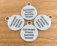 Empowered Woman, Empower Woman Round Engraved Charm | Fashion Jewellery Outlet