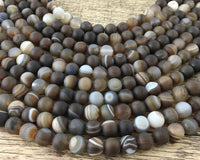 4mm Frosted Agate Bead | Fashion Jewellery Outlet