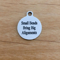 Small Bends Bring Big Alignments Round Engraved Charm | Fashion Jewellery Outlet