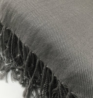 Pashmina Scarf with Fringe, Dark Grey | Fashion Jewellery Outlet