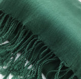 Pashmina Scarf with Fringe, Emerald Green | Fashion Jewellery Outlet