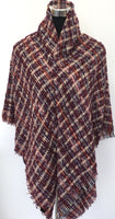 Checkered Blanket Scarf Long, Winter Scarf | Fashion Jewellery Outlet