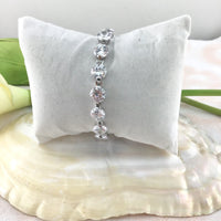 Cubic Zirconia Round Bridal Bracelet | Fashion Jewellery Outlet
