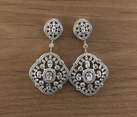 Chandelier Earring  Bridal Cubic Zirconia Earrings, 18K Plated | Fashion Jewellery Outlet