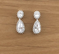 Bridal Cubic Zirconia Earrings, 18K Plated with Cubic Zirconia | Fashion Jewellery Outlet