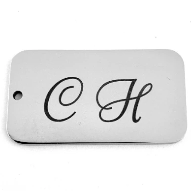 Stainless Steel Engraved Charms