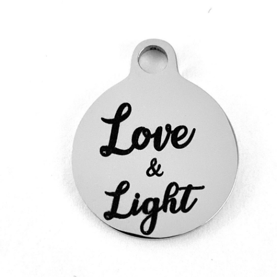 Love & Light Laser Engraved Charm | Fashion Jewellery Outlet