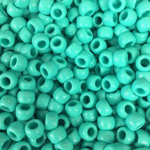 Plastic Beads, 4X6 Pony Beads, Mint Green | Fashion Jewellery Outlet