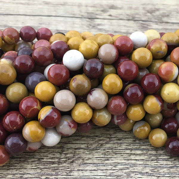 6mm Mookaite Bead | Fashion Jewellery Outlet