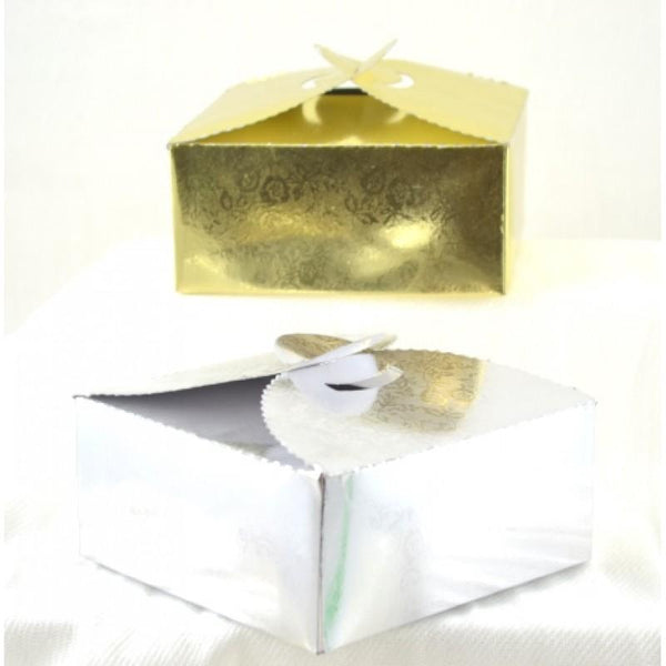 Paper Cake box, Silver | Fashion Jewellery Outlet