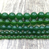 6mm Dark Green Jade Bead