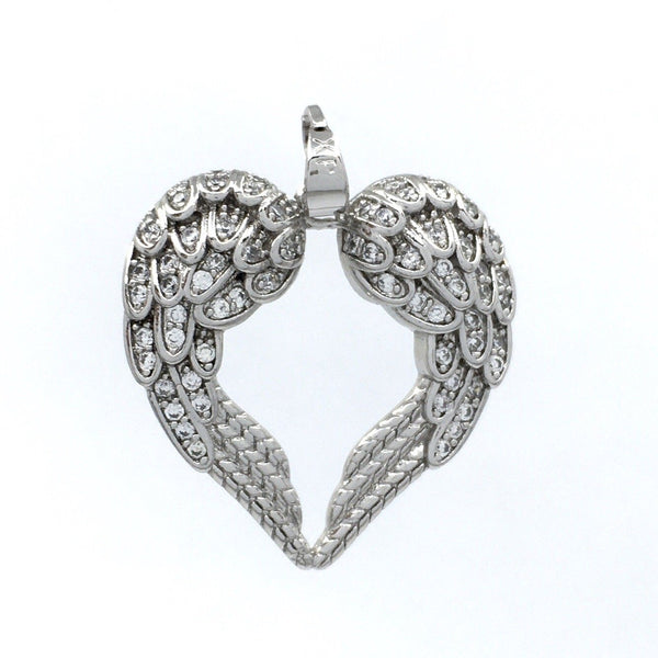 Pave Diamond 0.65 cts Feather Leaf Charm Pendant  925 sterling silver Jewelry Gems Trade Mart