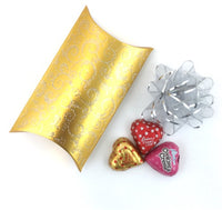 Pillow Candy Box, Gold | Fashion Jewellery Outlet
