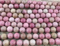 4mm Pink Petrified Wood Bead | Fashion Jewellery Outlet