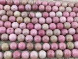 10mm Pink Petrified Wood Bead | Fashion Jewellery Outlet